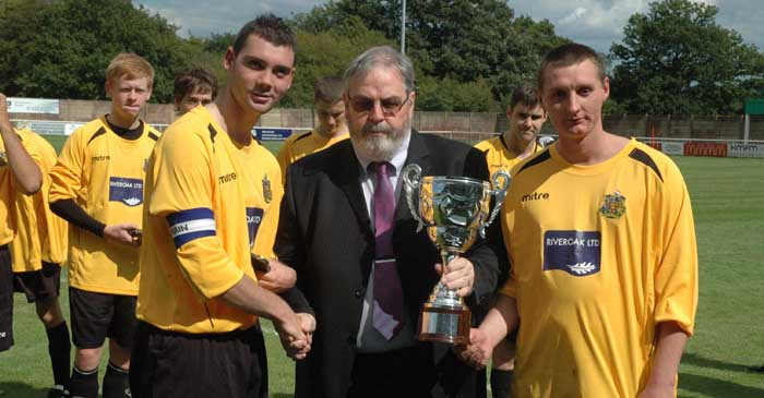 Maidstone United FC Raiders receiving the Maidstone Community Challenge Cup